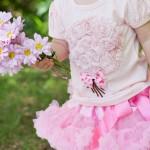 Little Girls tshirts and petti skirts